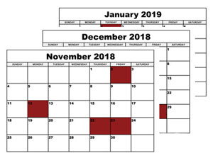 Sy-Klone Holiday Closing Schedule
