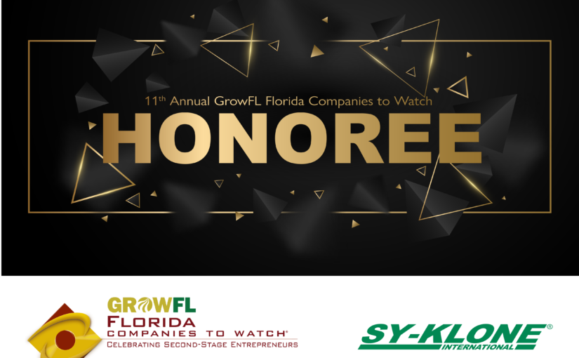 Sy-Klone recognized as a GrowFL Company to Watch