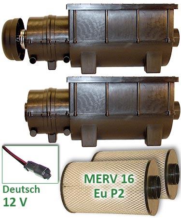 RESPA-SDX - 12 volt - Deutsch Connectors - Fresh & Recirculated Air Units